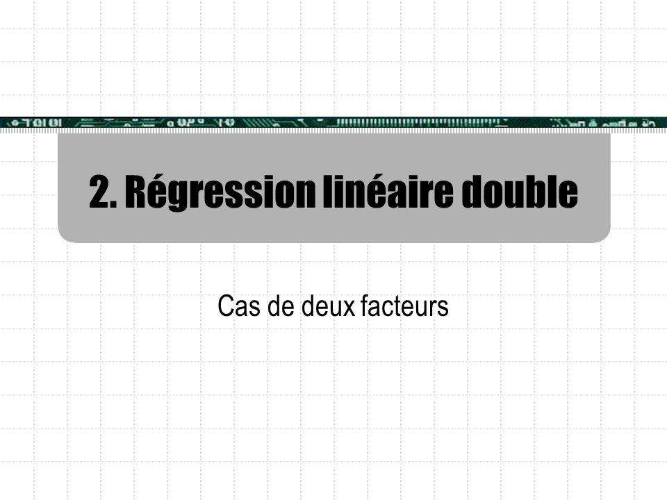 2. Régression linéaire double