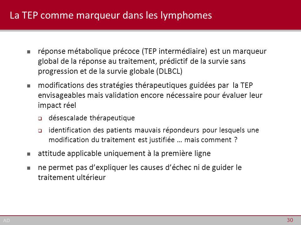 La TEP comme marqueur dans les lymphomes