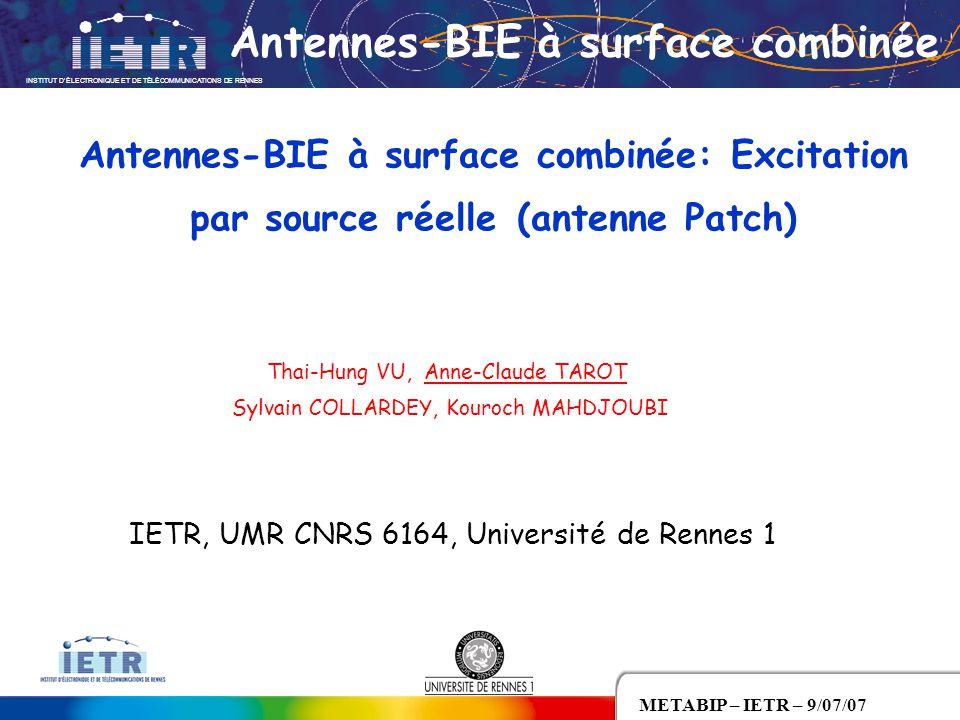 Antennes-BIE à surface combinée