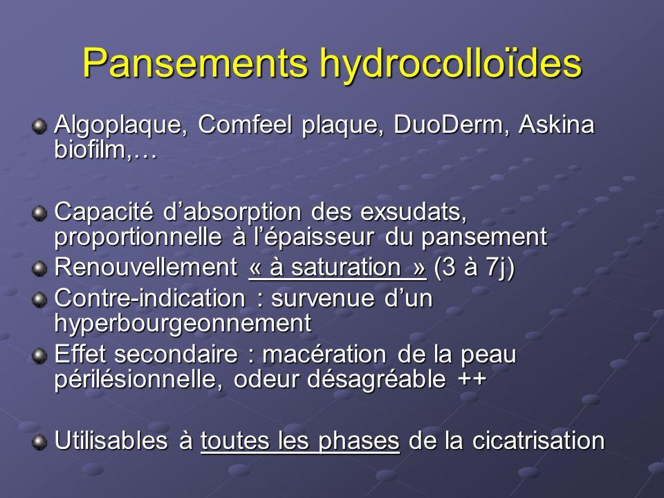 Pansements hydrocolloïdes