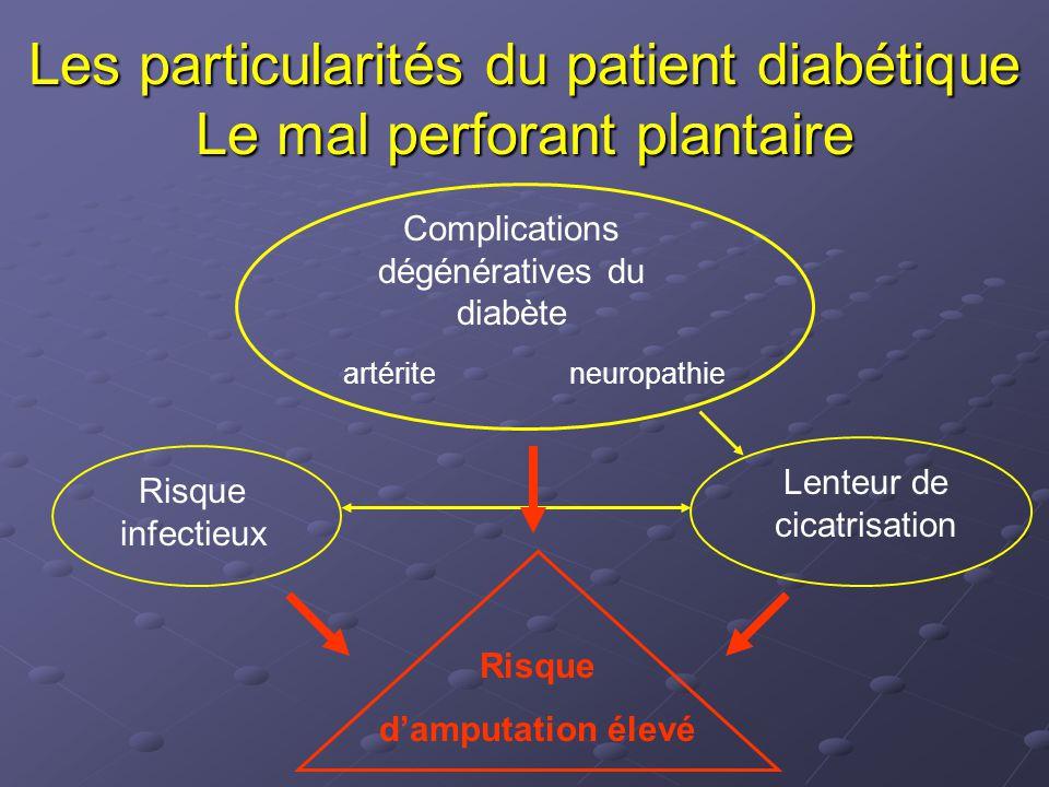Les particularités du patient diabétique Le mal perforant plantaire