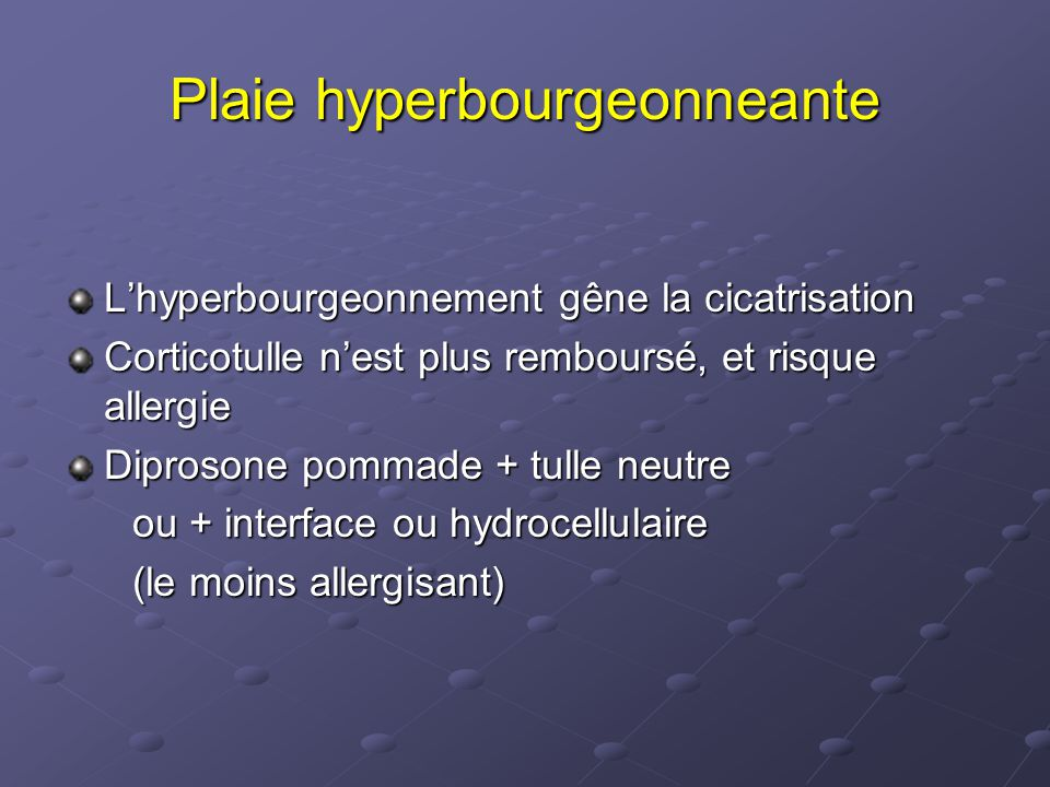 Plaie hyperbourgeonneante