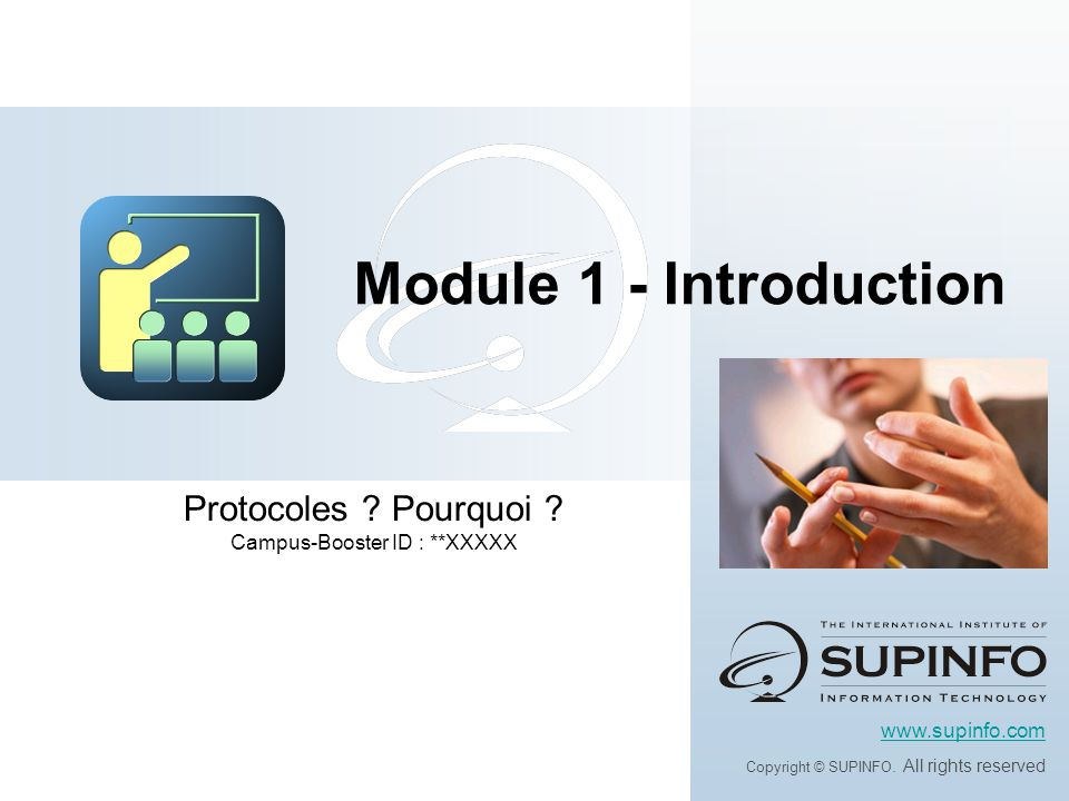 Protocoles Pourquoi Campus-Booster ID : **XXXXX