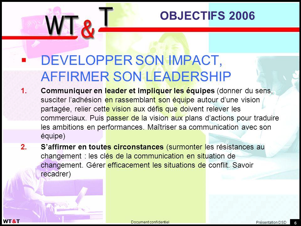 DEVELOPPER SON IMPACT, AFFIRMER SON LEADERSHIP