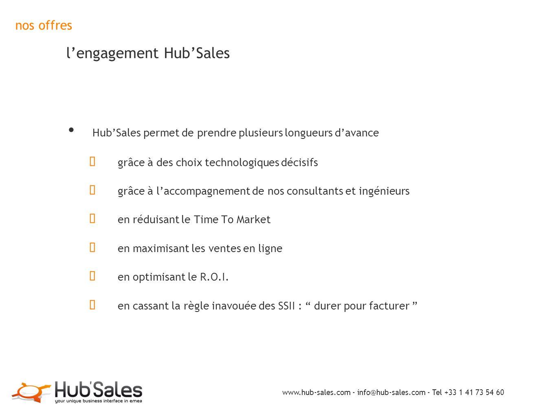nos offres l'engagement Hub'Sales