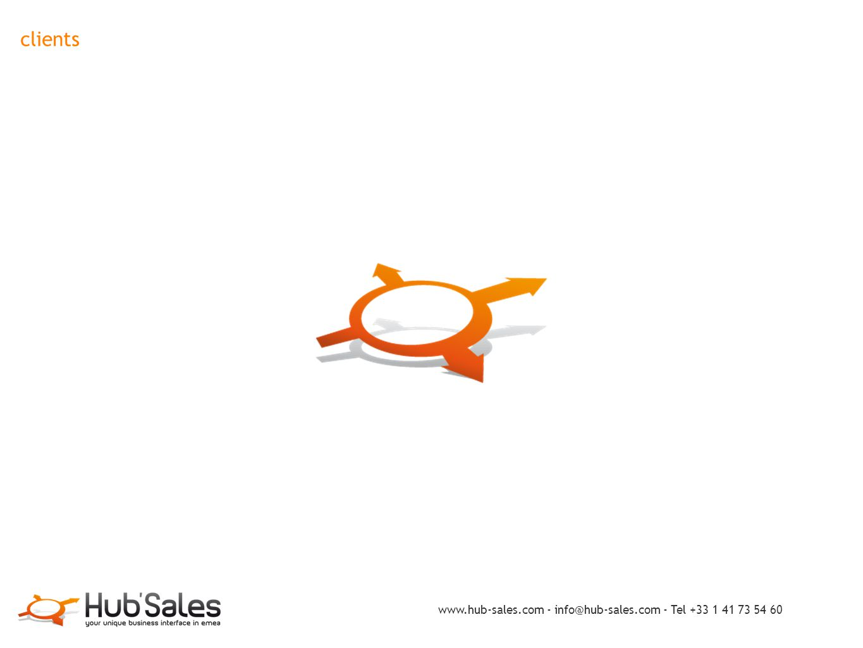 clients www.hub-sales.com - info@hub-sales.com - Tel +33 1 41 73 54 60