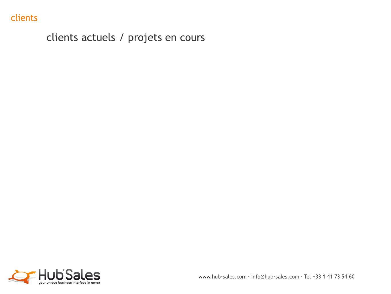 clients clients actuels / projets en cours
