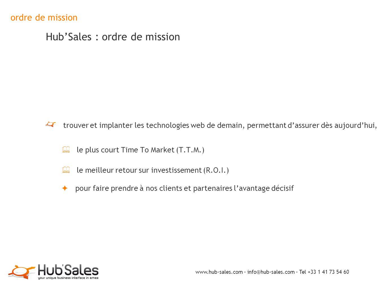 ordre de mission Hub'Sales : ordre de mission