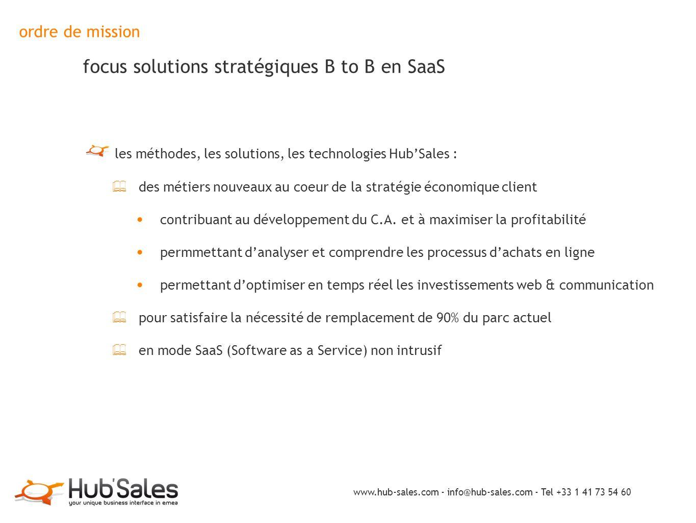 ordre de mission focus solutions stratégiques B to B en SaaS