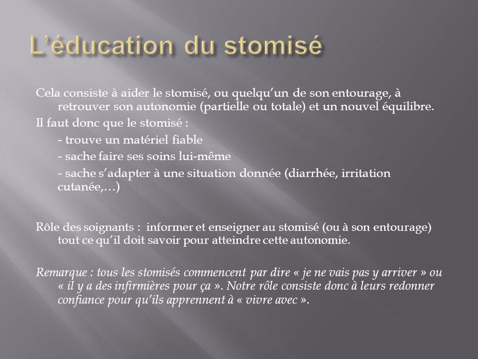 L'éducation du stomisé