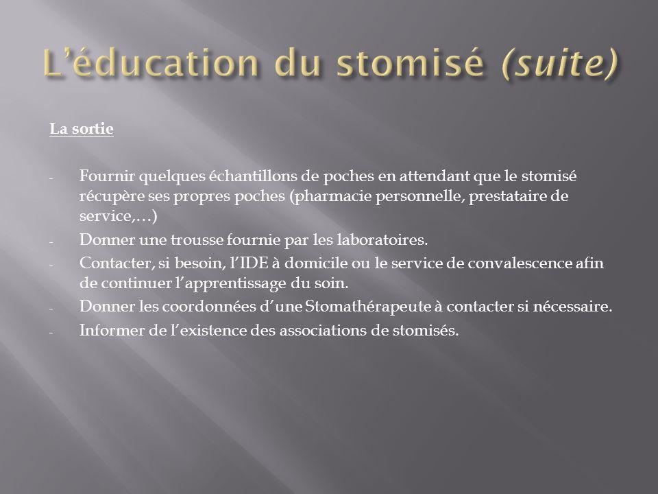 L'éducation du stomisé (suite)