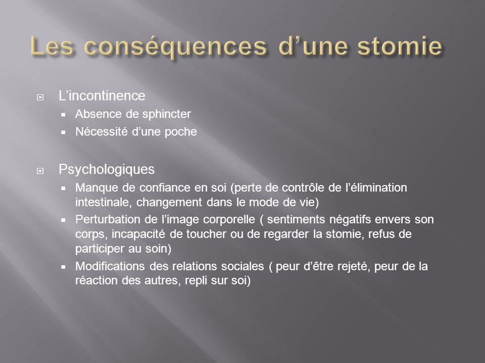 Les conséquences d'une stomie