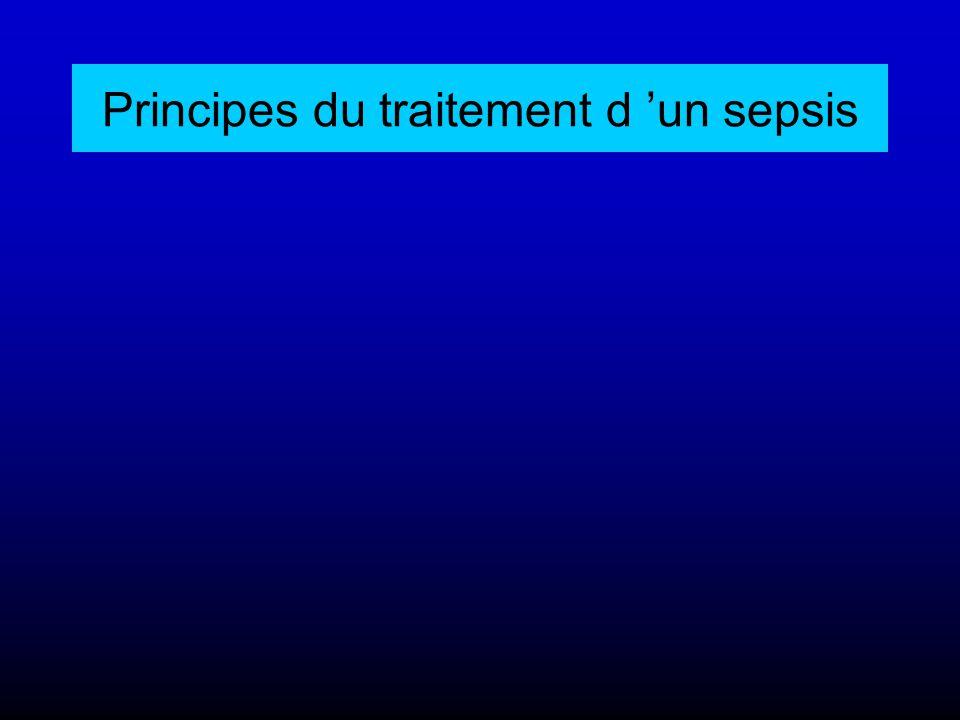 Principes du traitement d 'un sepsis