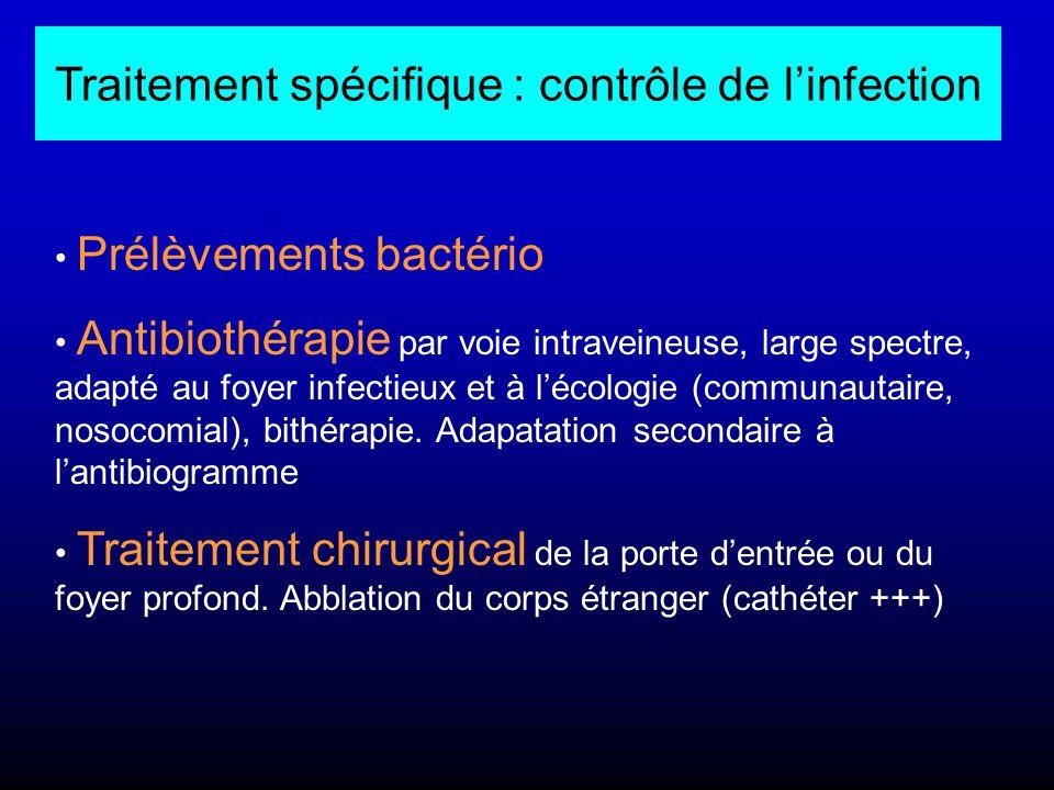 Traitement spécifique : contrôle de l'infection