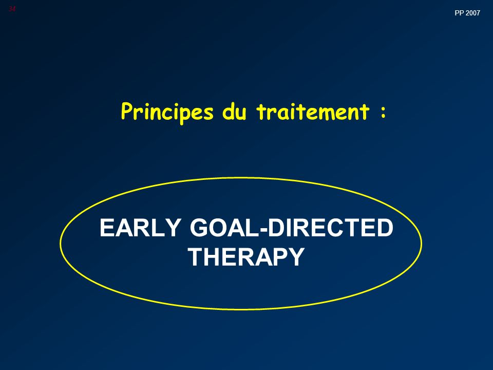 Principes du traitement :