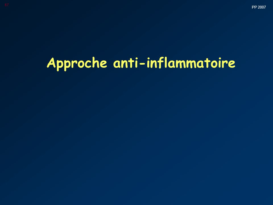 Approche anti-inflammatoire