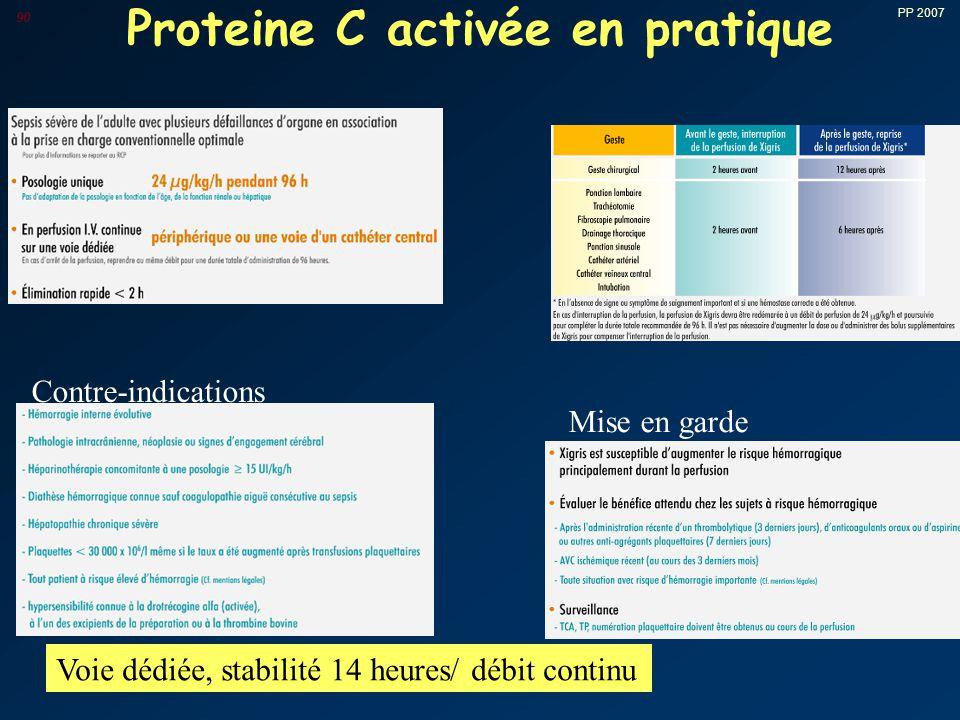 Proteine C activée en pratique
