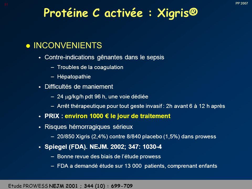 Protéine C activée : Xigris®