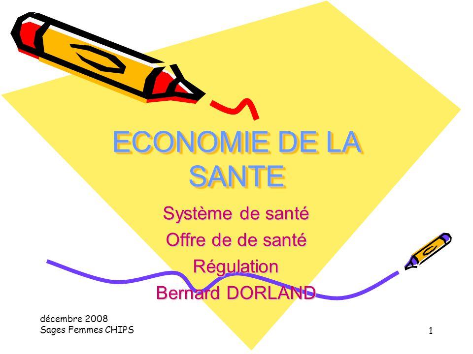 Système de santé Offre de de santé Régulation Bernard DORLAND