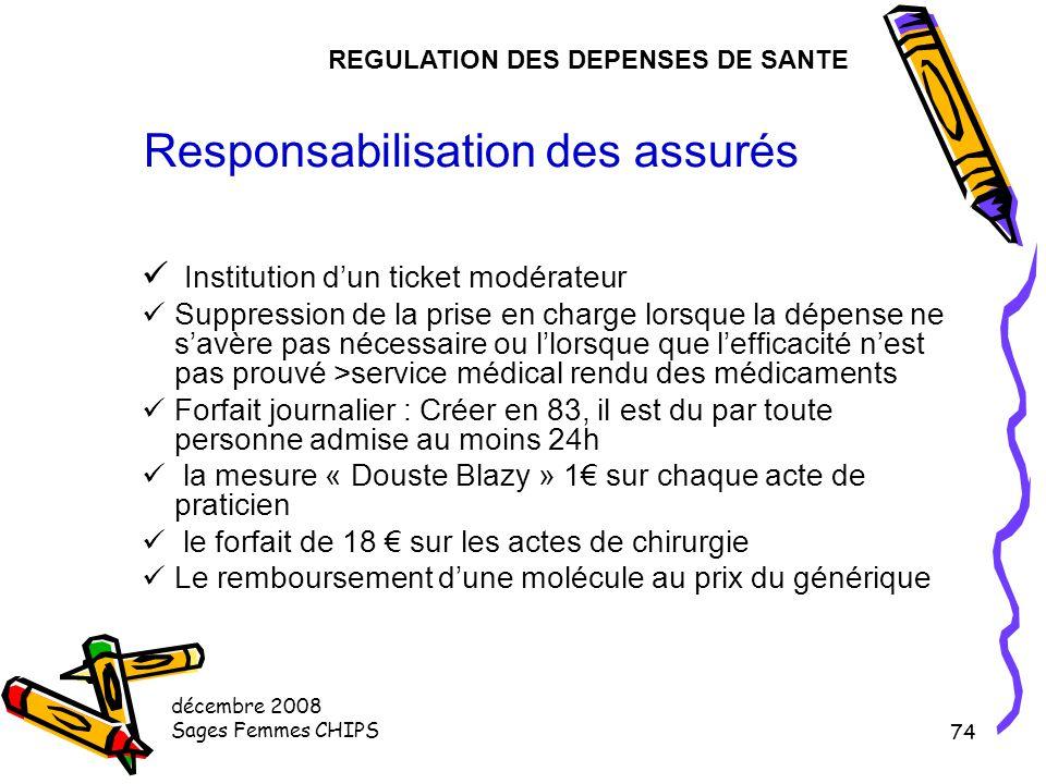 Responsabilisation des assurés