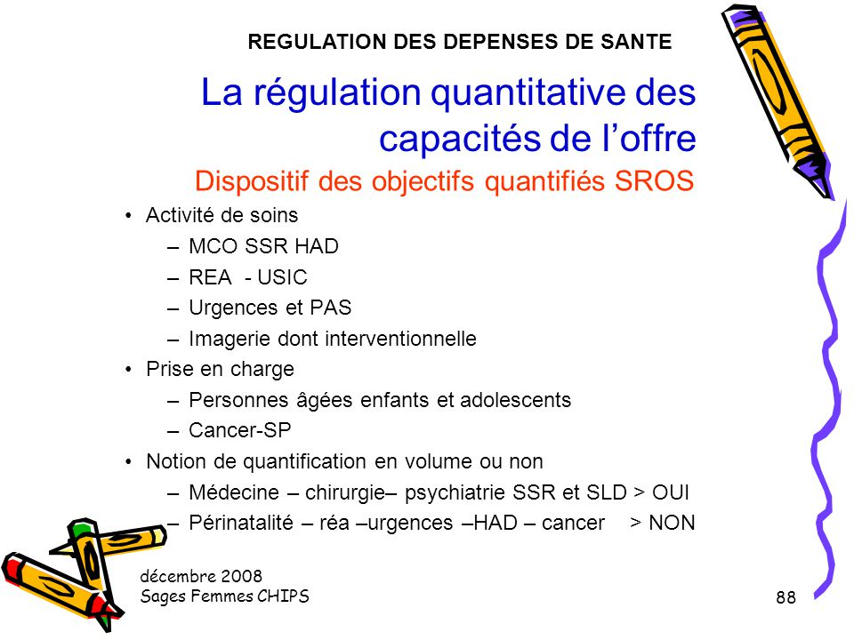 La régulation quantitative des capacités de l'offre
