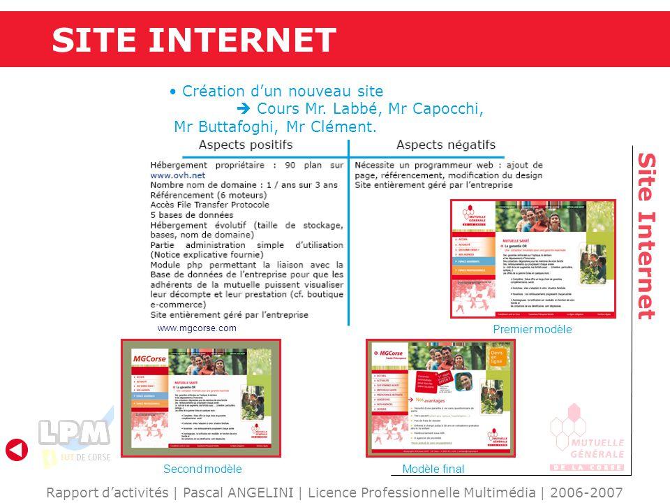 SITE INTERNET Site Internet Création d'un nouveau site