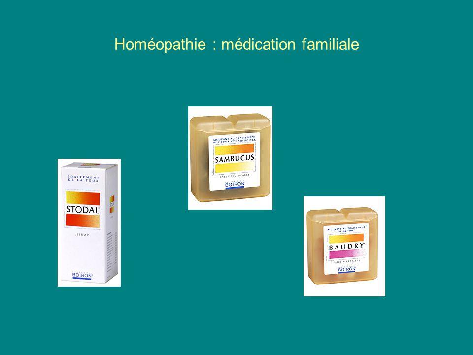 Homéopathie : médication familiale