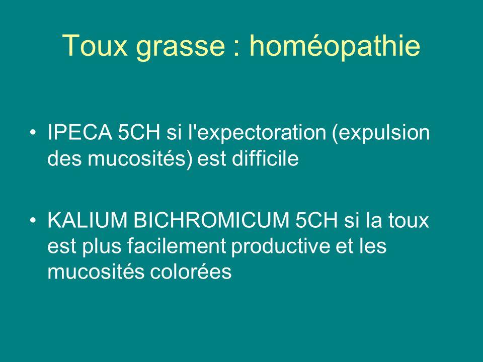 Toux grasse : homéopathie