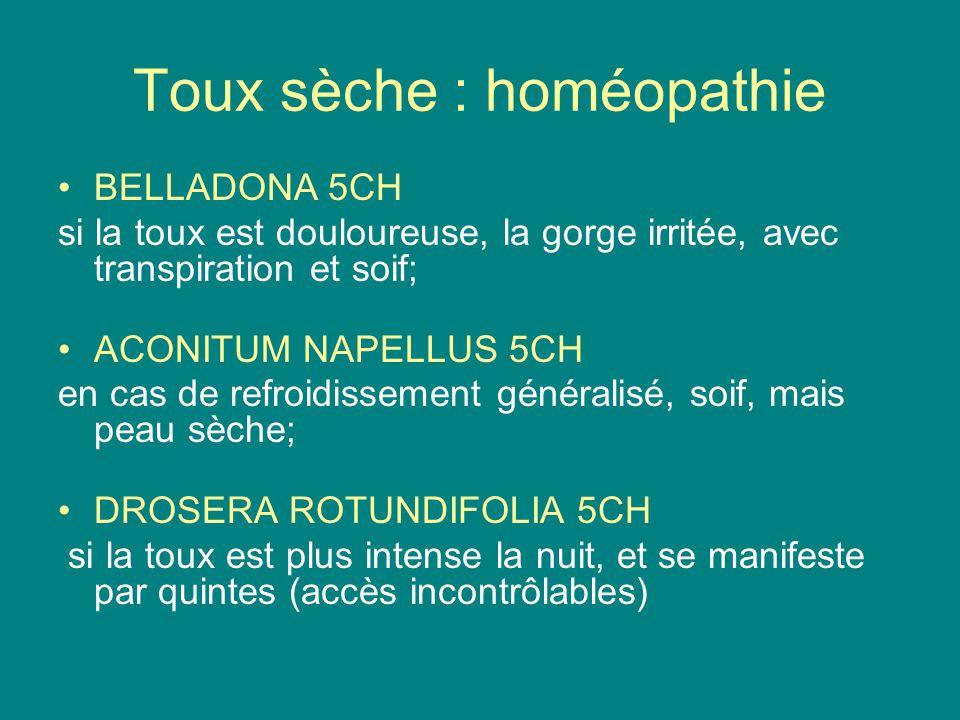 Toux sèche : homéopathie