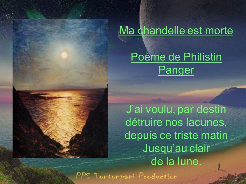 Poème de Philistin Panger