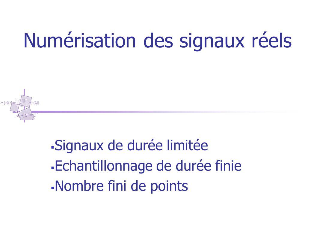 Numérisation des signaux réels