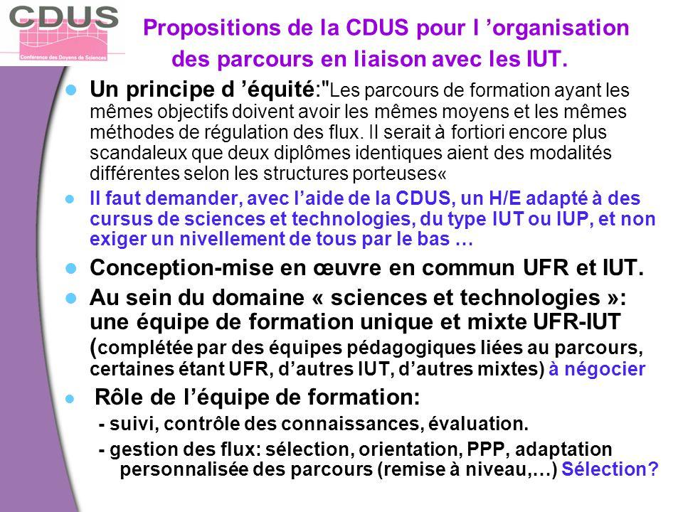 Conception-mise en œuvre en commun UFR et IUT.