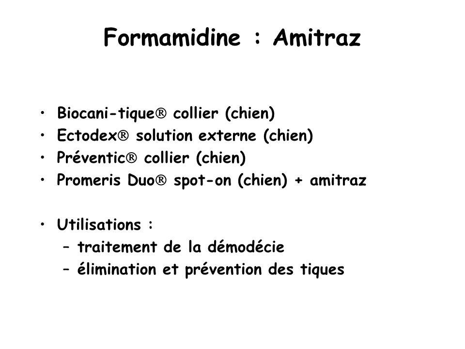 Formamidine : Amitraz Biocani-tique collier (chien)