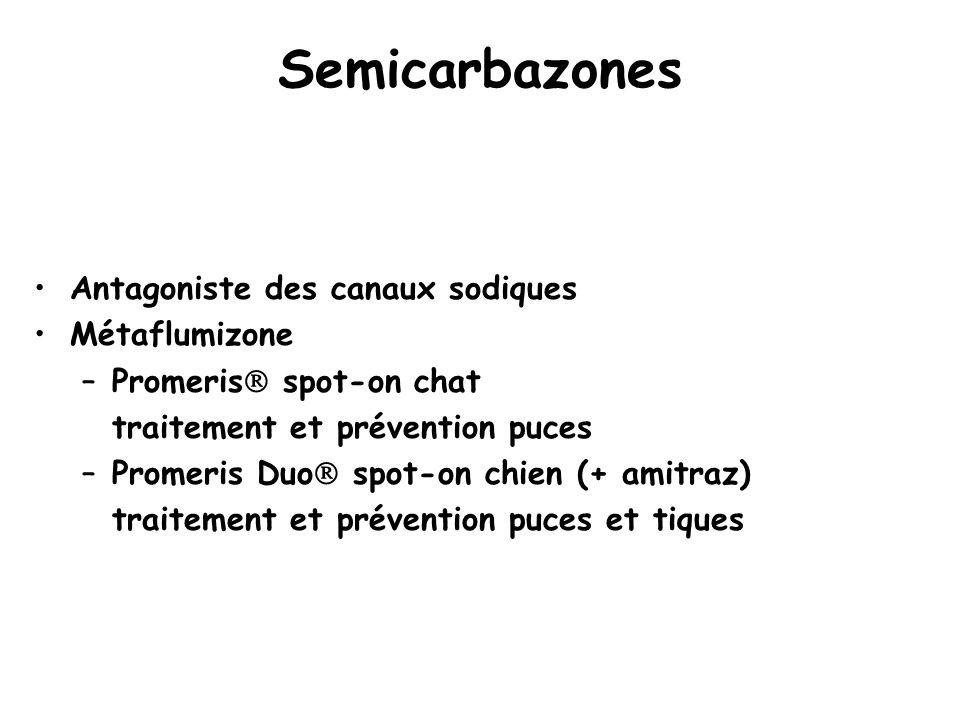Semicarbazones Antagoniste des canaux sodiques Métaflumizone
