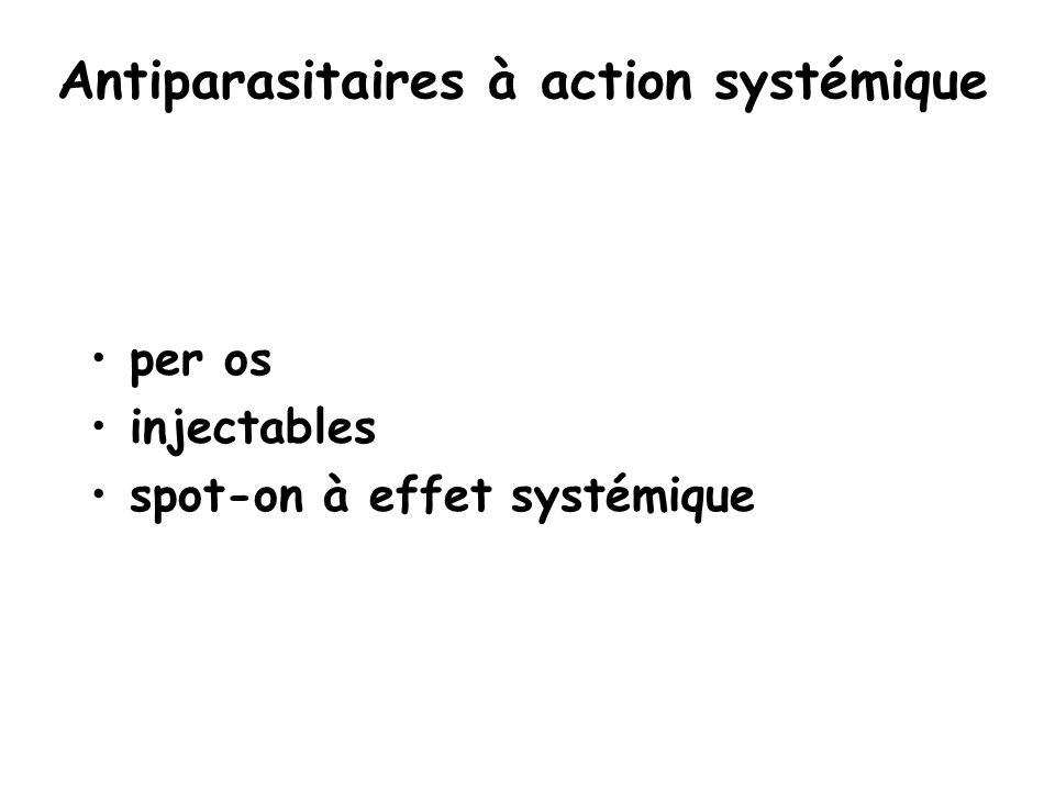 Antiparasitaires à action systémique