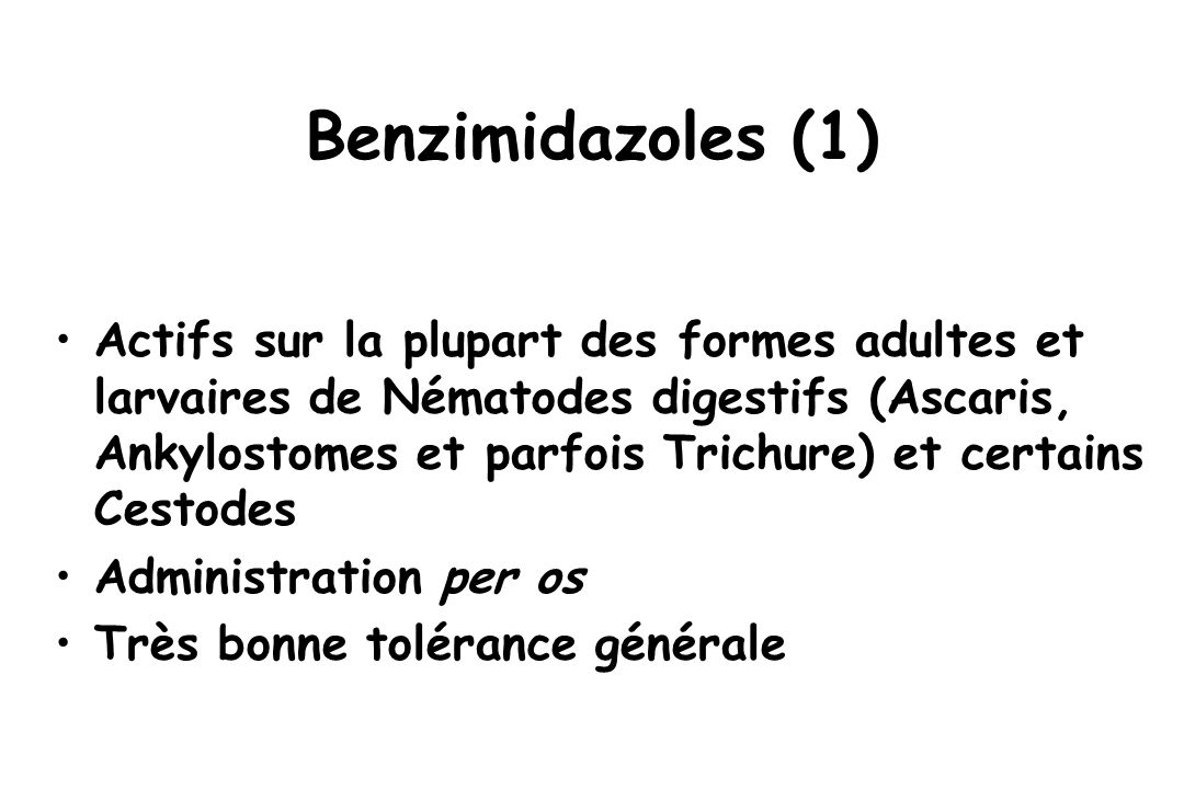 Benzimidazoles (1)
