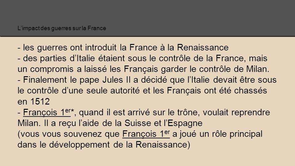 L'impact des guerres sur la France