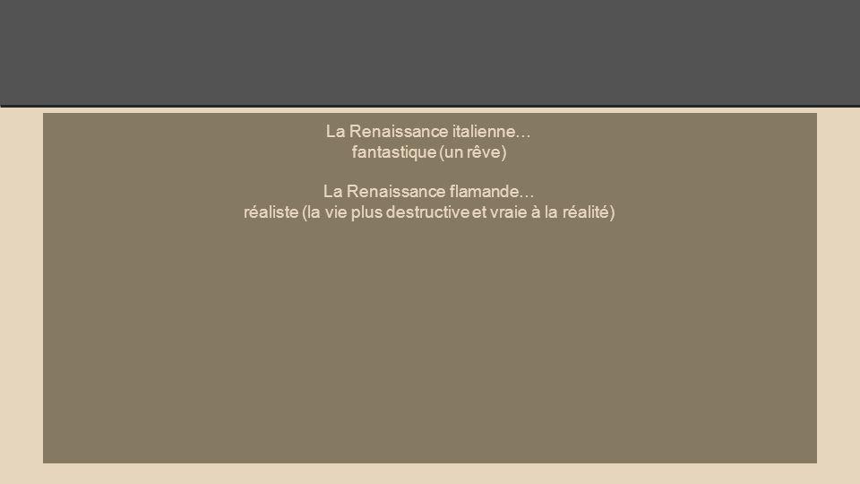 La Renaissance italienne… fantastique (un rêve)