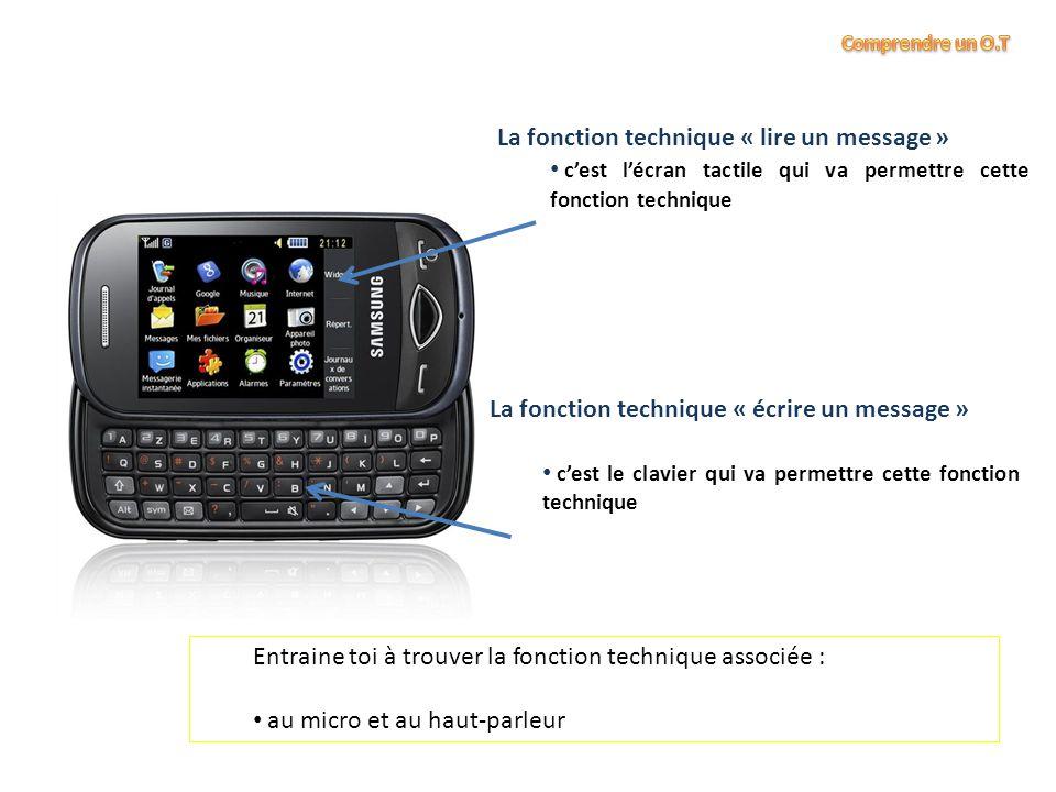 La fonction technique « lire un message »