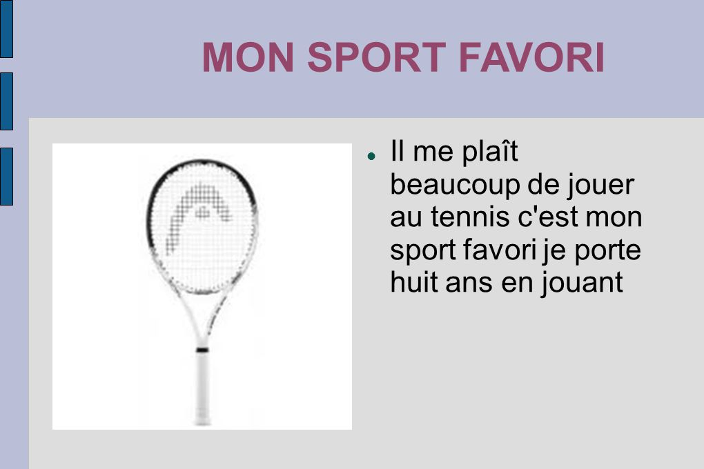 MON SPORT FAVORIMON SPORT FAVORI