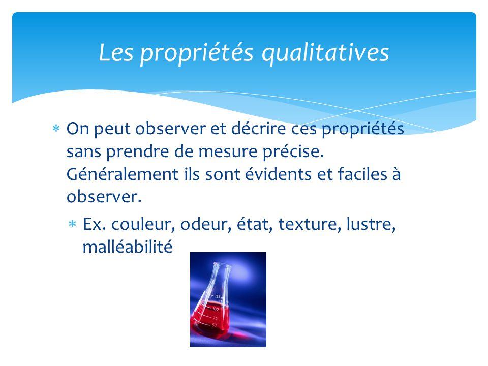 Les propriétés qualitatives