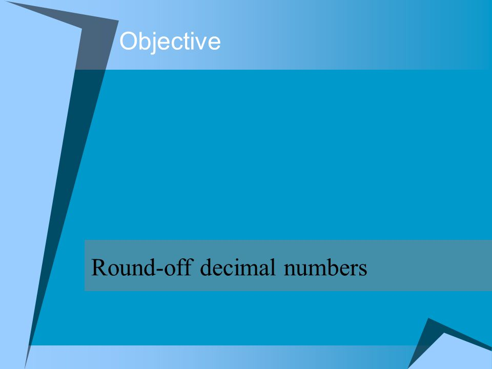Round-off decimal numbers