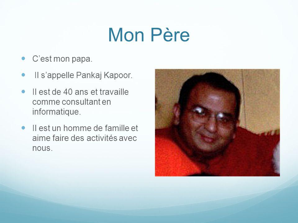 Mon Père C'est mon papa. Il s'appelle Pankaj Kapoor.