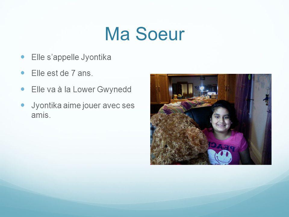 Ma Soeur Elle s'appelle Jyontika Elle est de 7 ans.