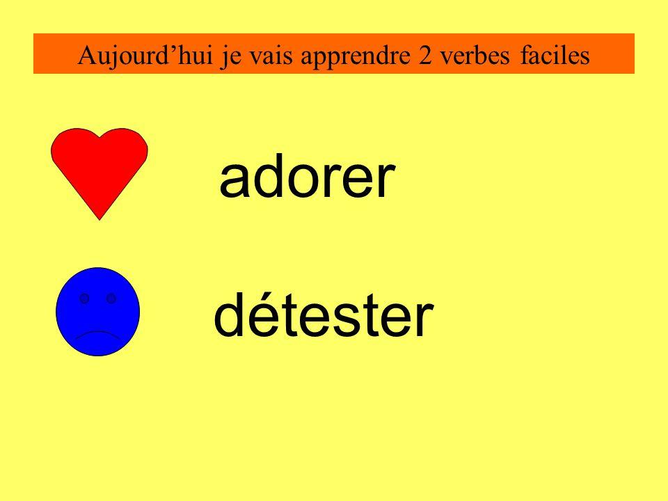 Aujourd'hui je vais apprendre 2 verbes faciles