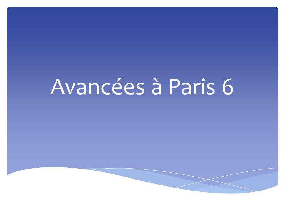 Avancées à Paris 6