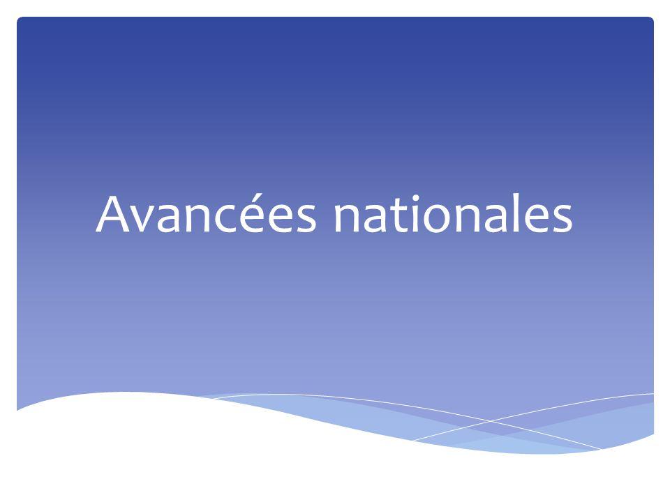 Avancées nationales