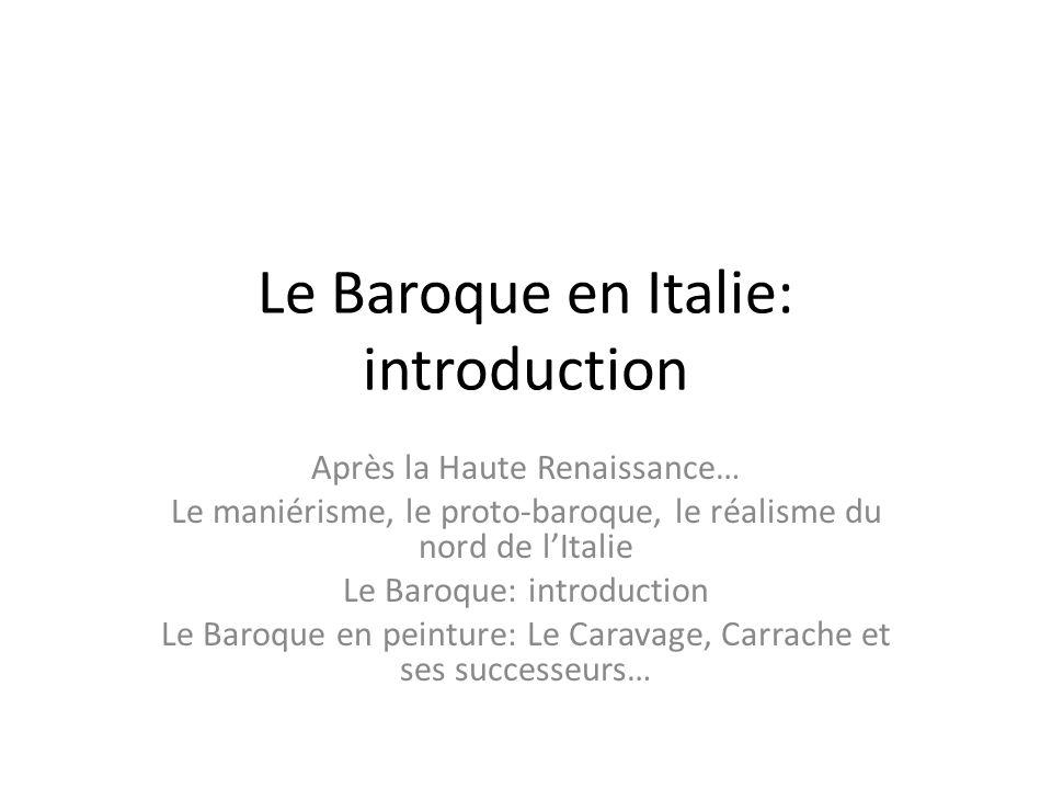 Le Baroque en Italie: introduction