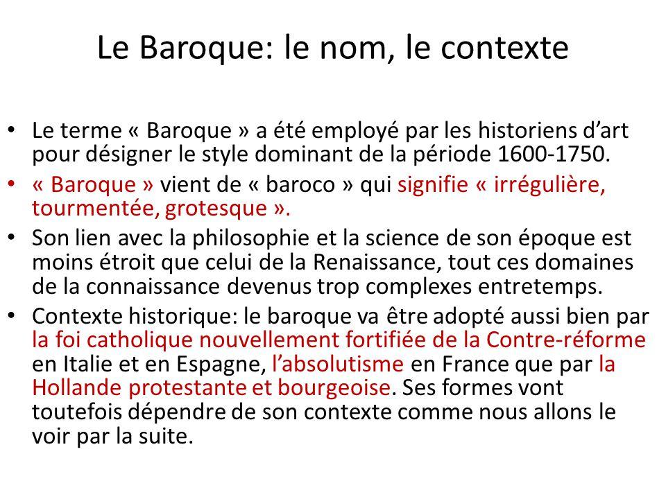 Le Baroque: le nom, le contexte