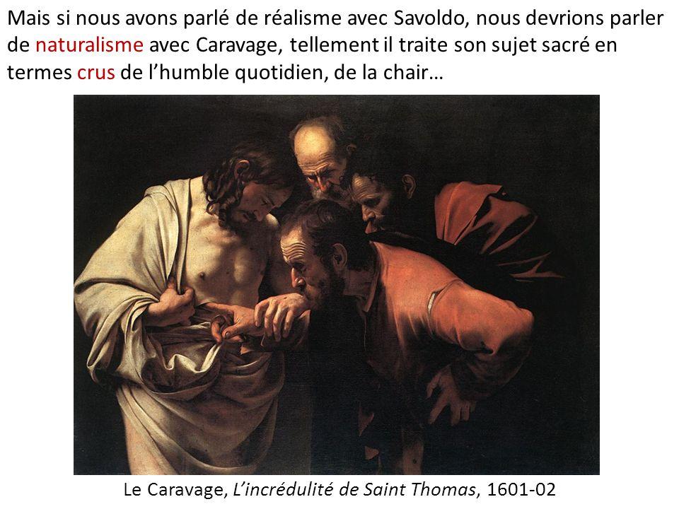Le Caravage, L'incrédulité de Saint Thomas, 1601-02